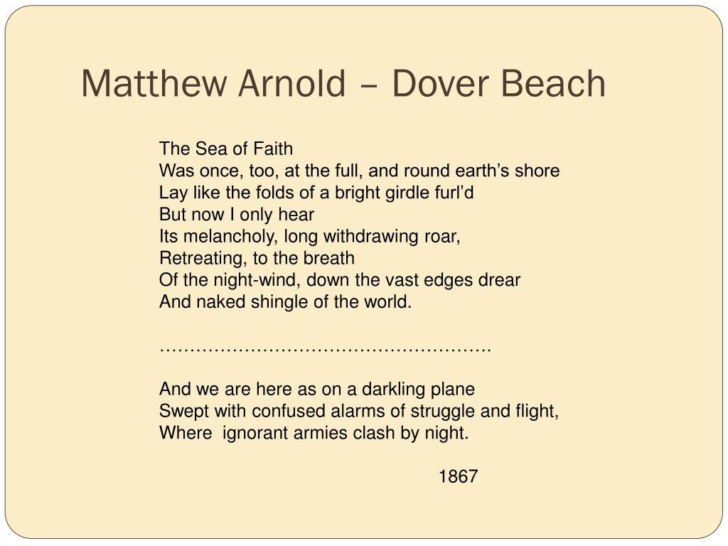 Matthew Arnold – Dover Beach