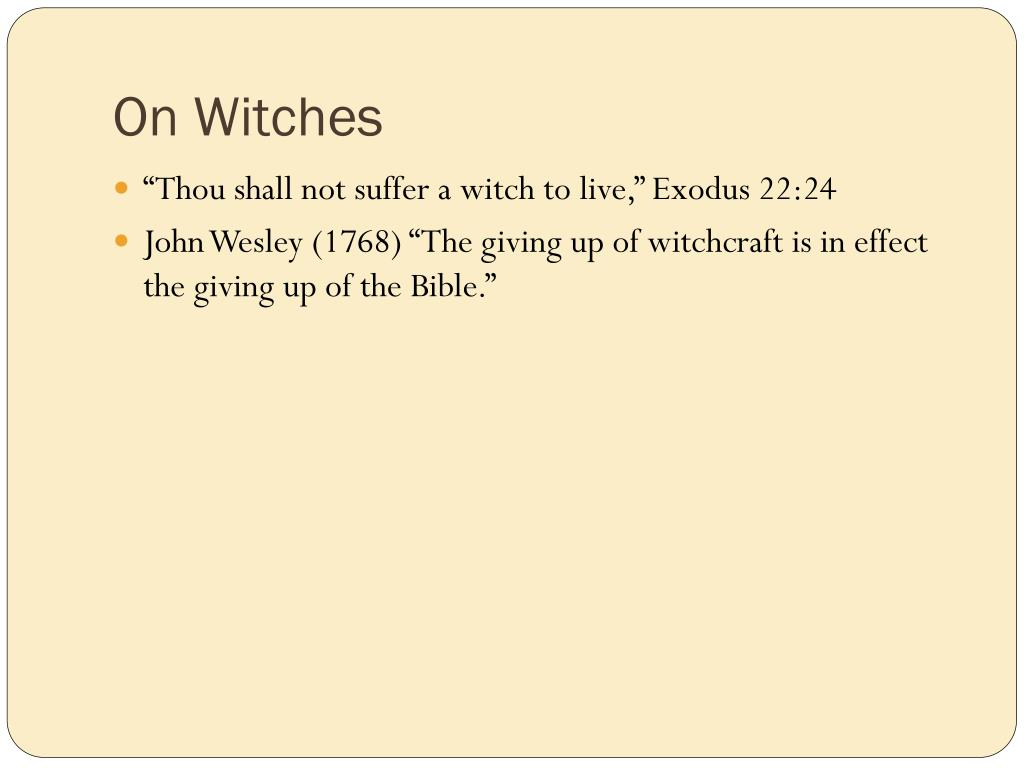 On Witches