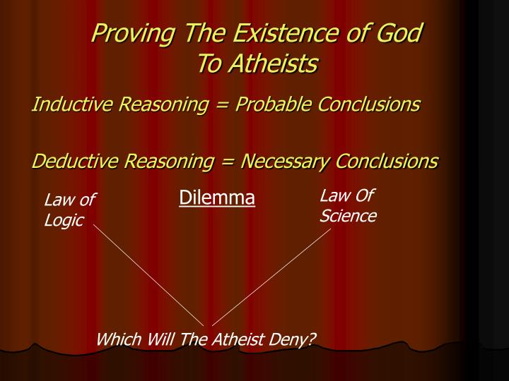 Proving the existence of god to atheists2