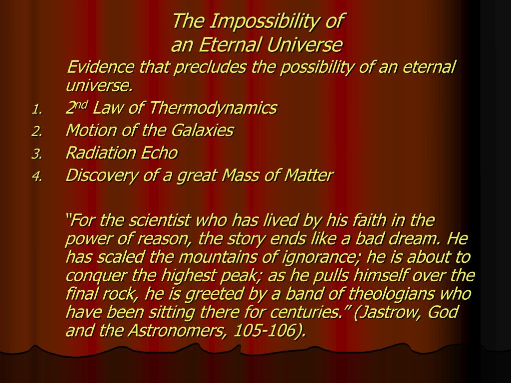 The Impossibility of