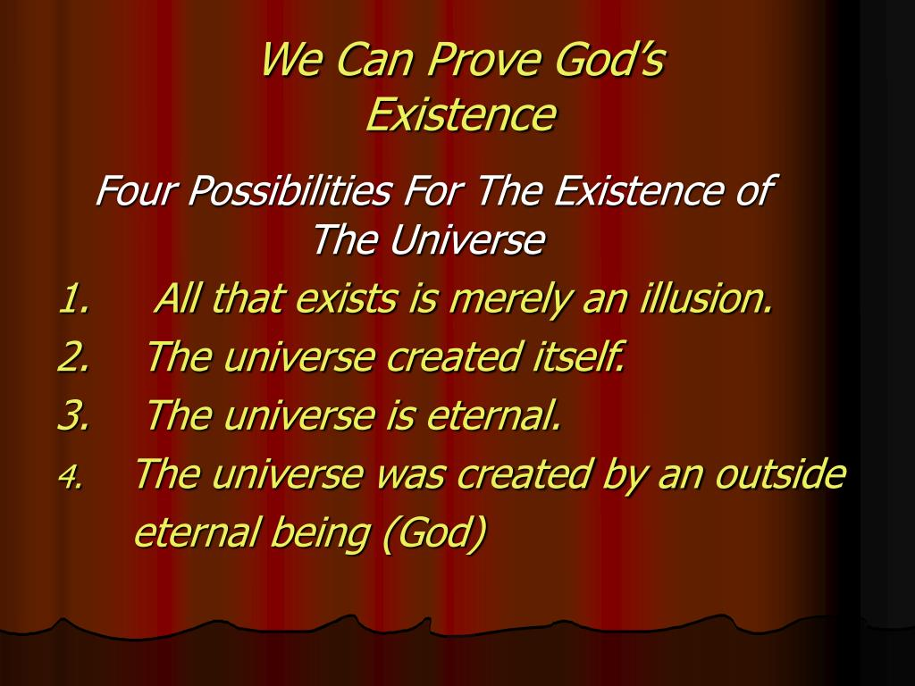 We Can Prove God's