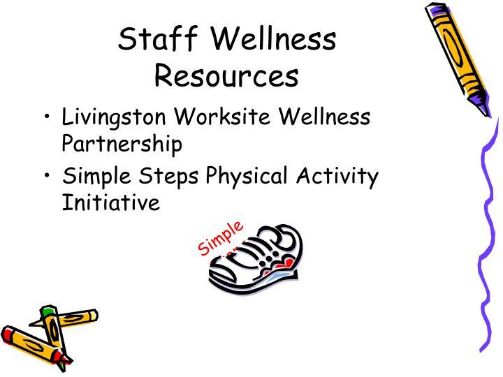 Staff Wellness Resources