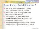 evolution and social sciences 2