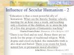influence of secular humanism 2