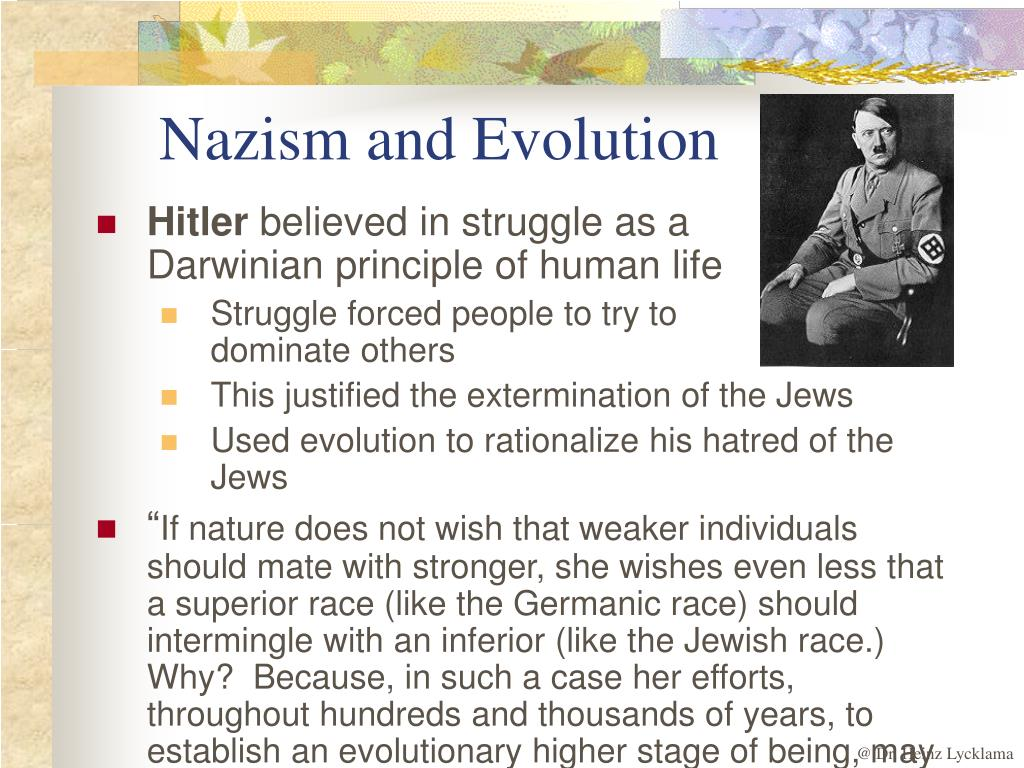 Nazism and Evolution
