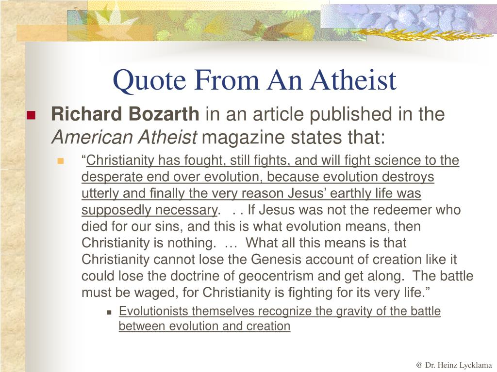 Quote From An Atheist