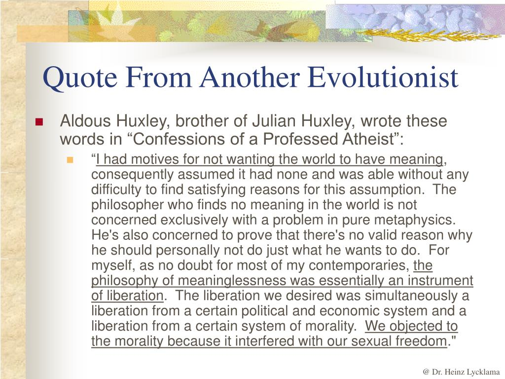 Quote From Another Evolutionist