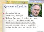 quote from dawkins