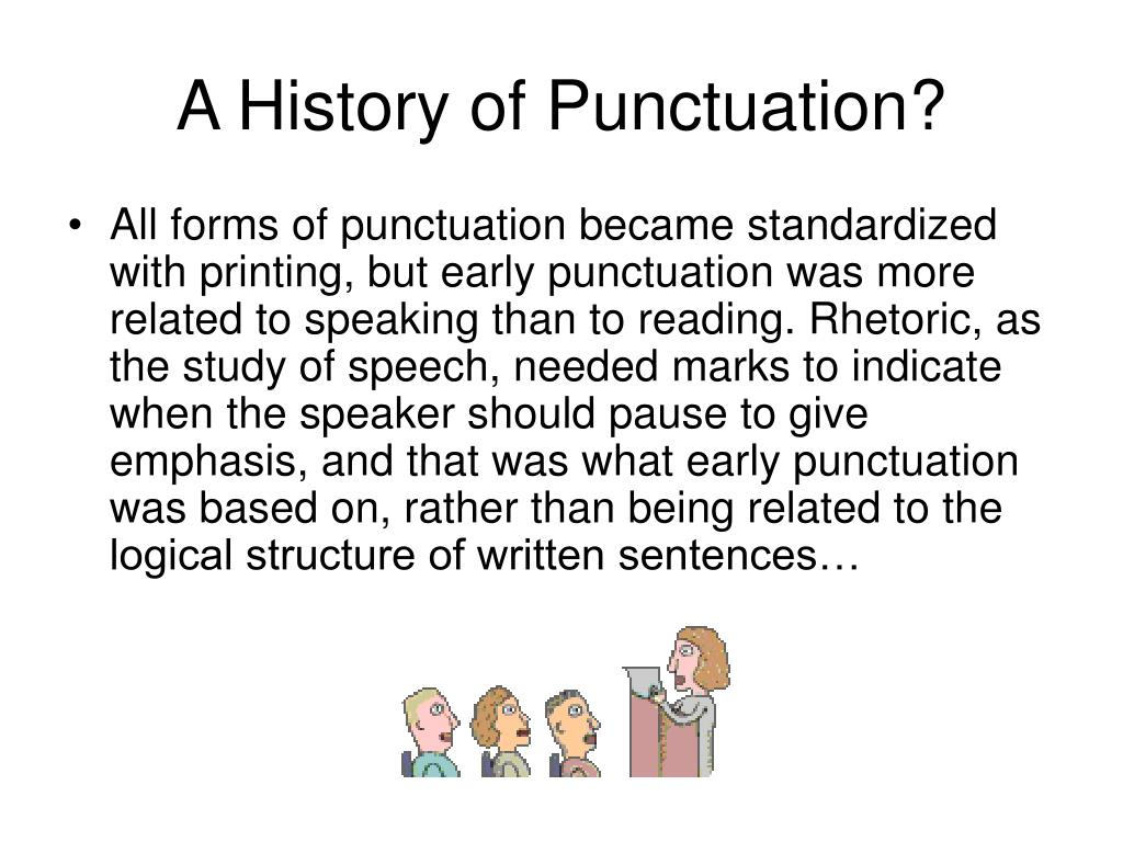 A History of Punctuation?