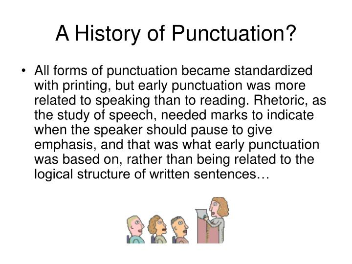 A history of punctuation