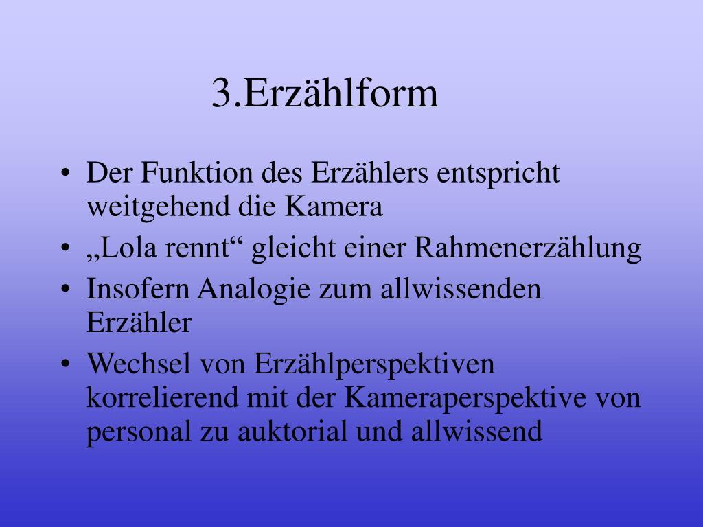 3.Erzählform