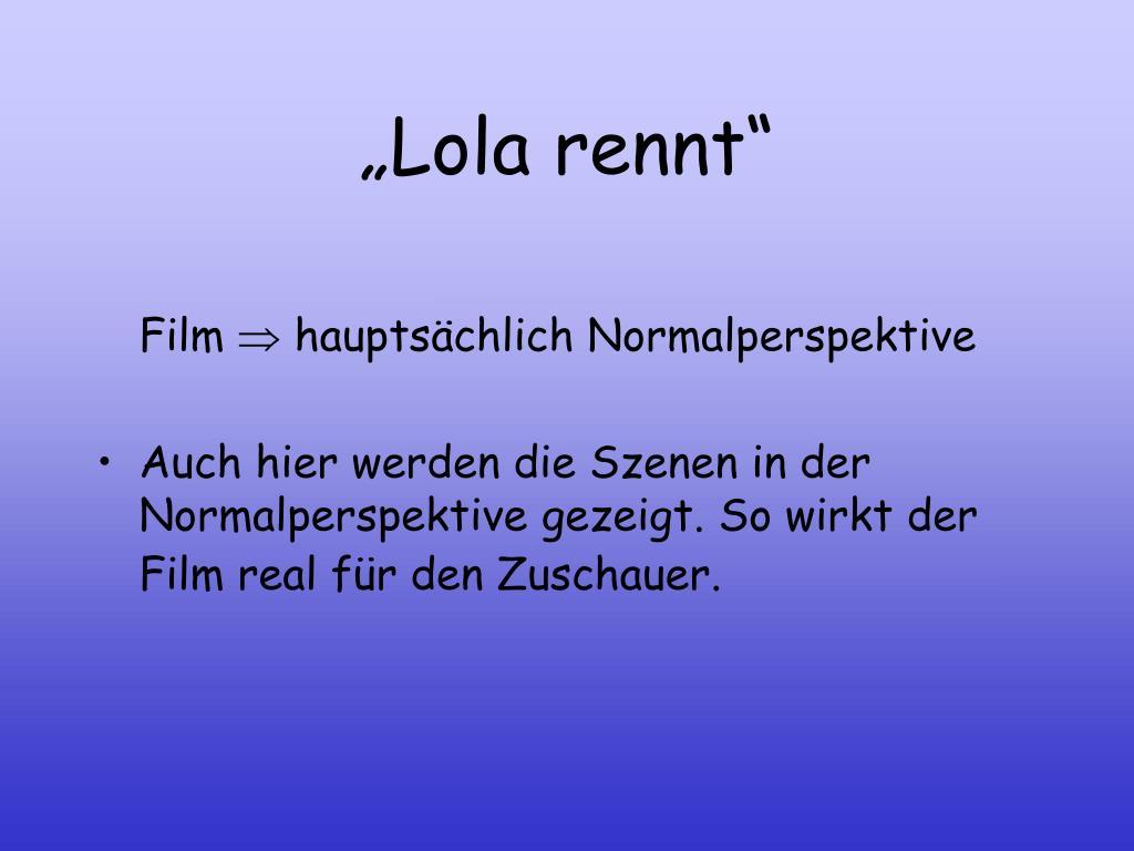 """""""Lola rennt"""""""