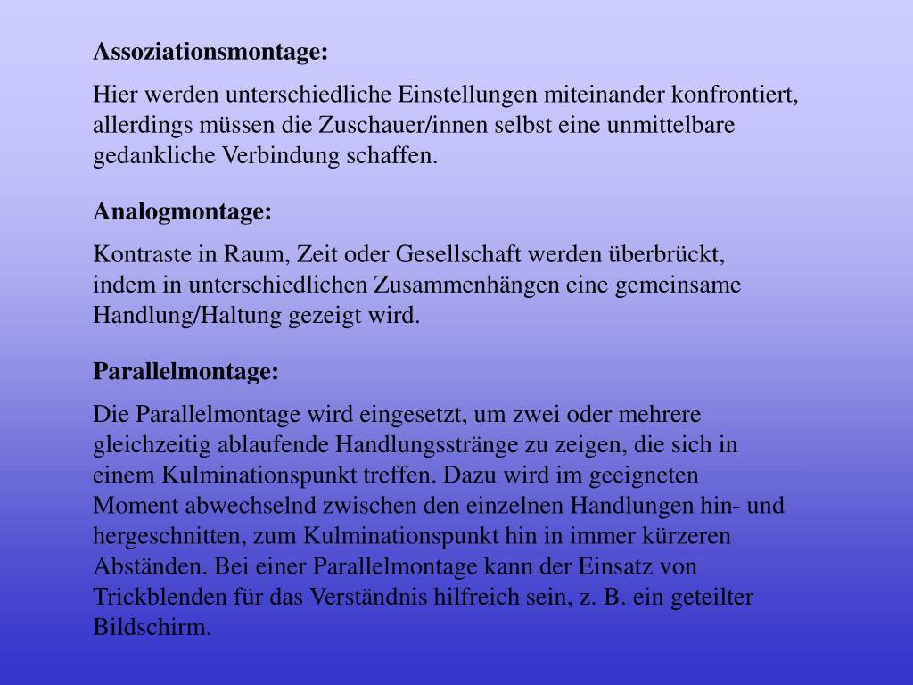 Assoziationsmontage: