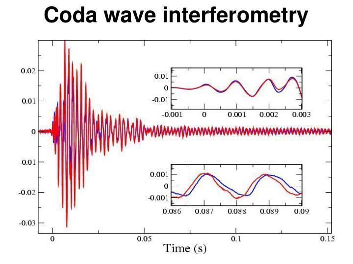 Coda wave interferometry