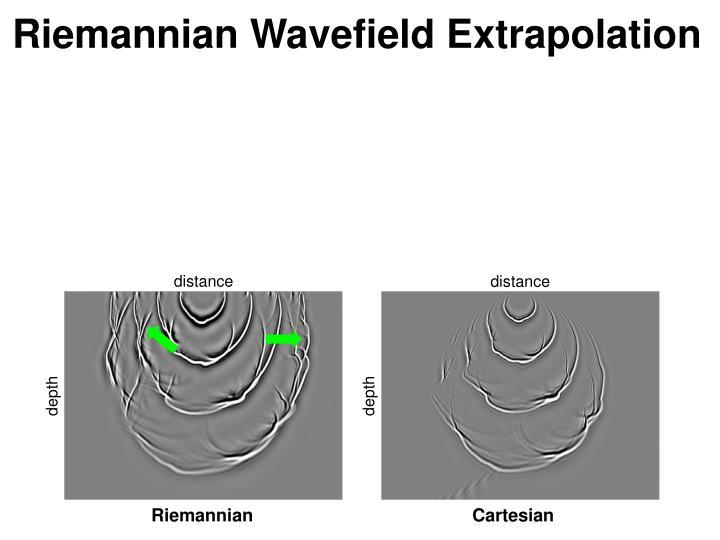 Riemannian Wavefield Extrapolation