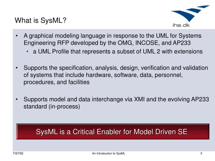 What is SysML?