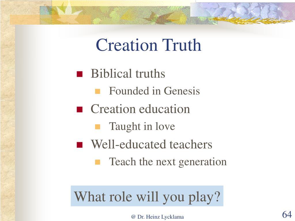Creation Truth