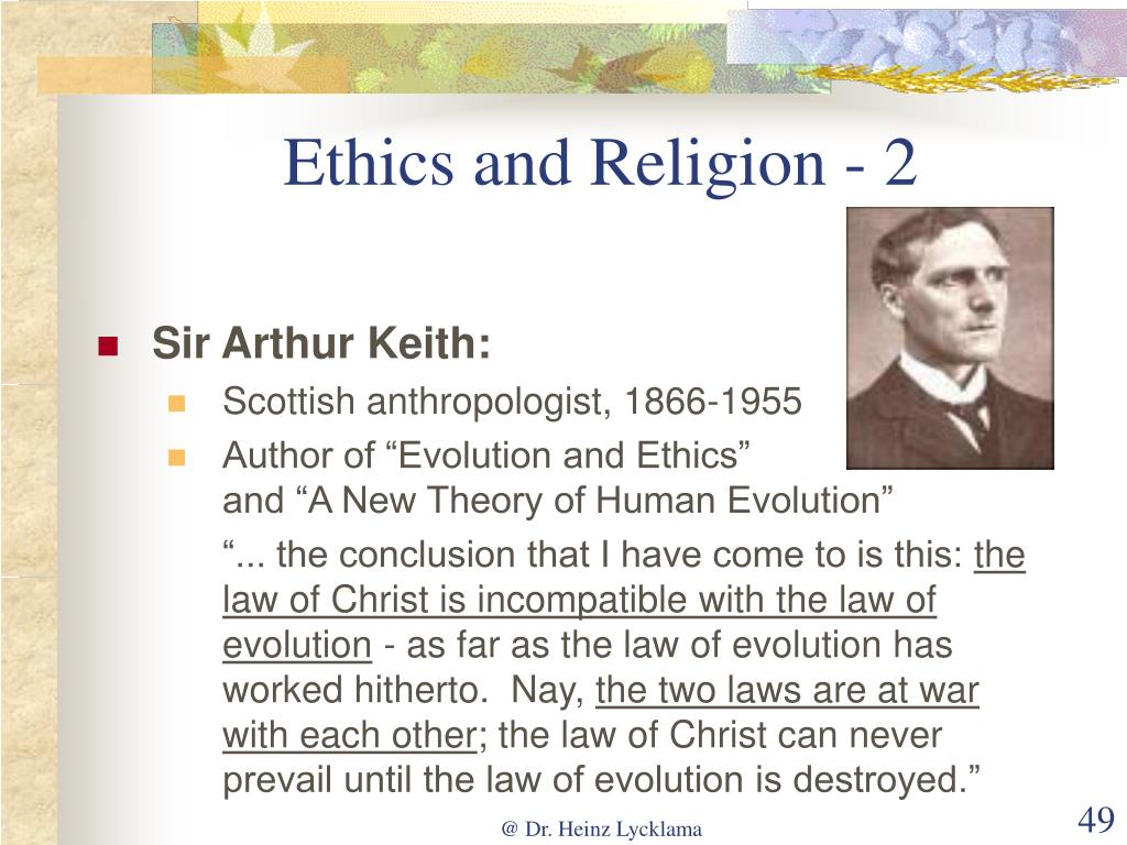 Ethics and Religion - 2