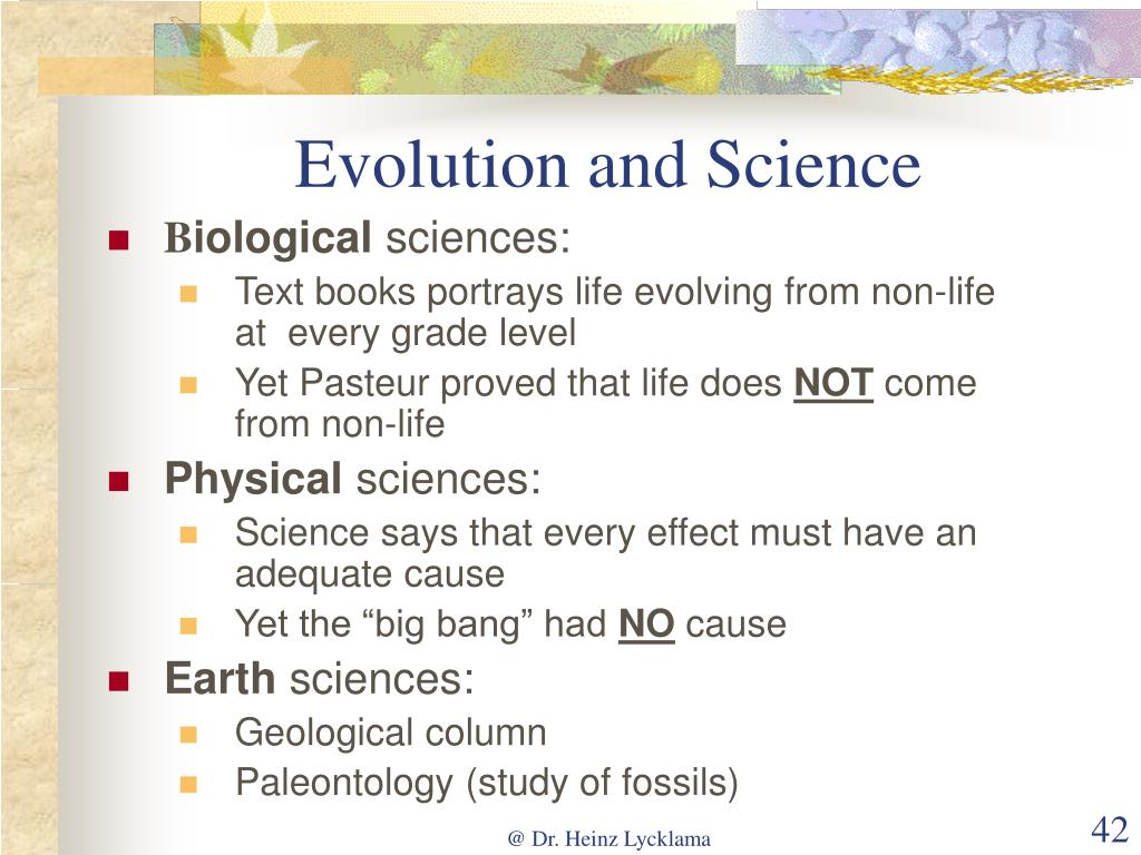 Evolution and Science