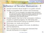 influence of secular humanism 3