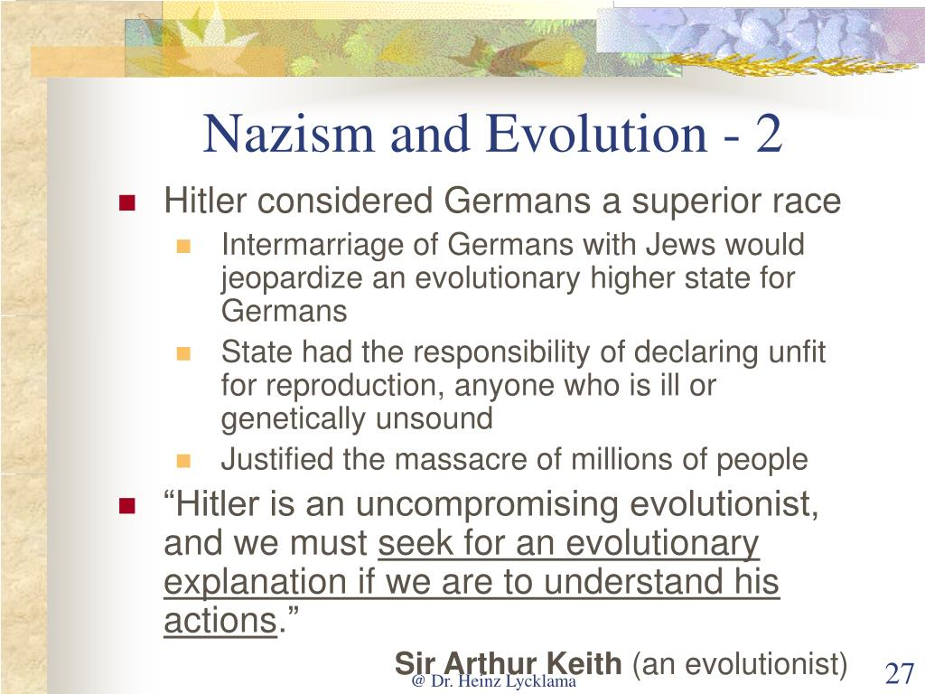 Nazism and Evolution - 2