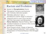 racism and evolution
