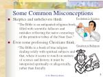 some common misconceptions