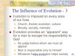 the influence of evolution 3