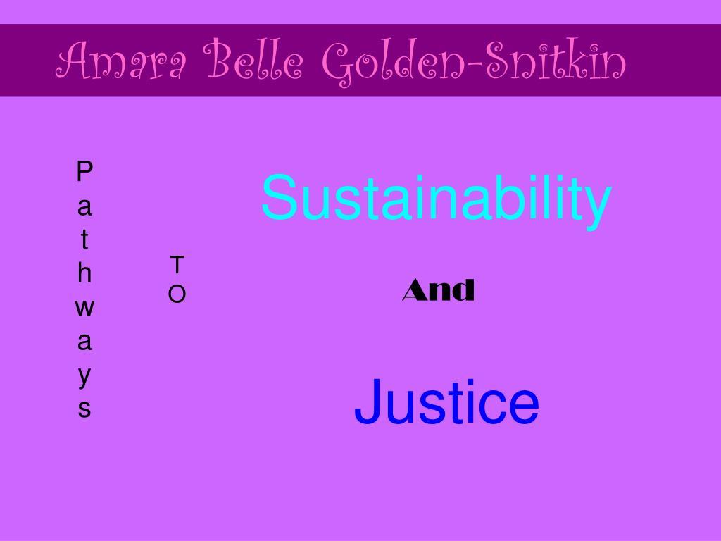 Amara Belle Golden-Snitkin
