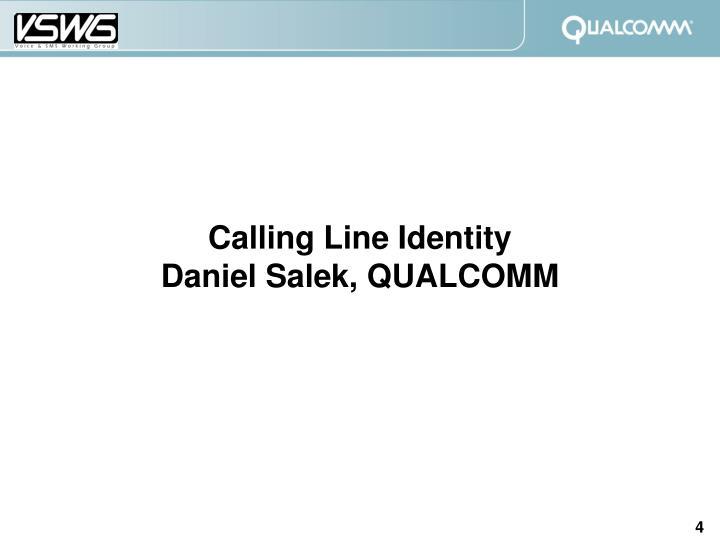 Calling Line Identity