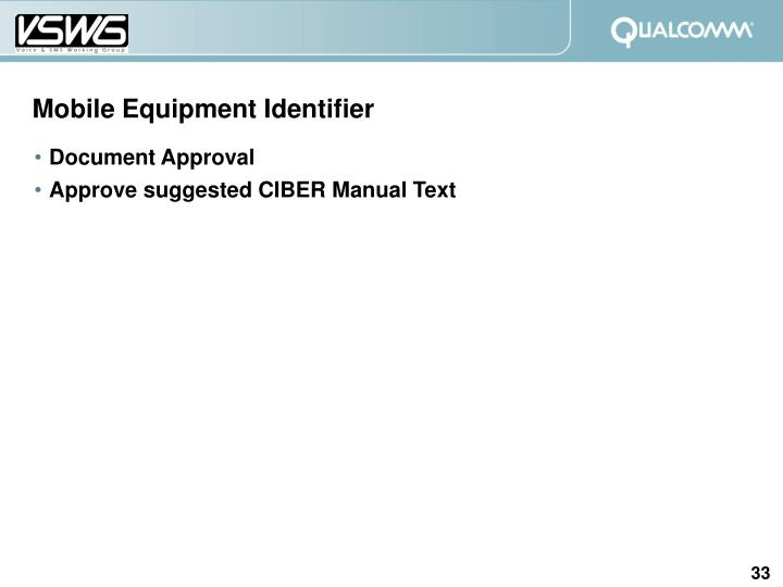 Mobile Equipment Identifier
