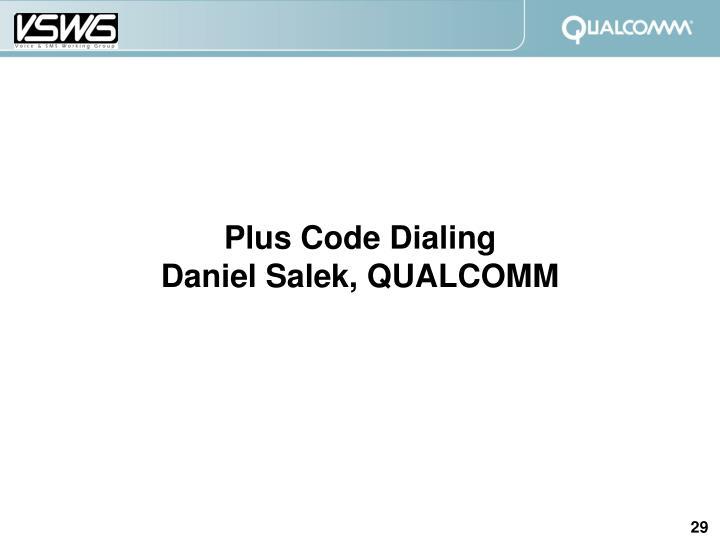 Plus Code Dialing