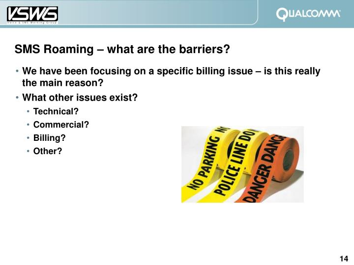 SMS Roaming – what are the barriers?