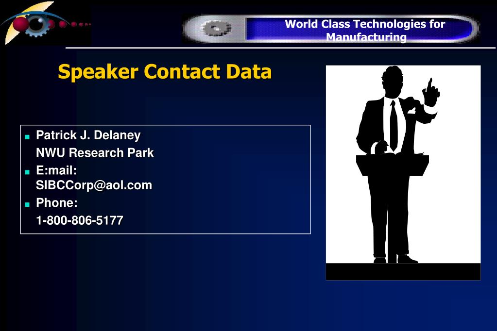 Speaker Contact Data