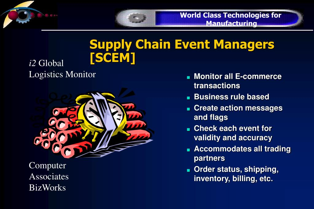 Supply Chain Event Managers [SCEM]