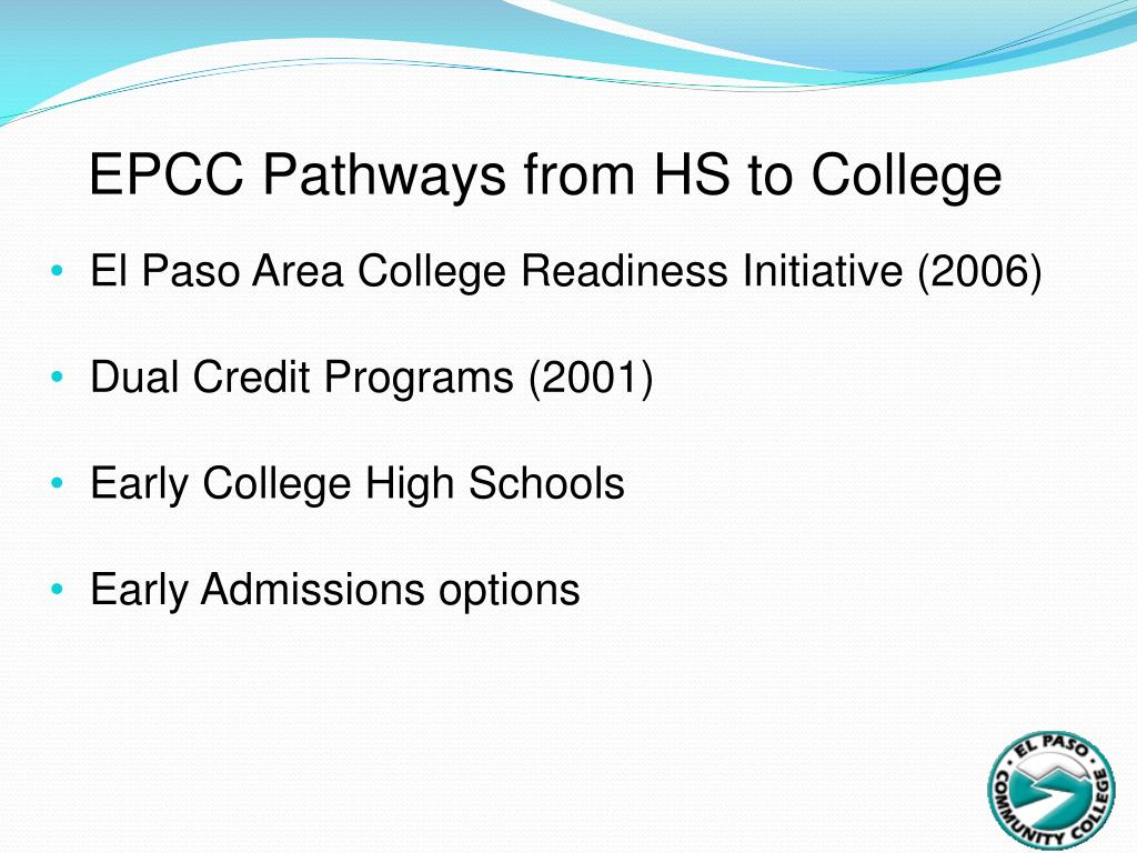 EPCC Pathways from HS to College