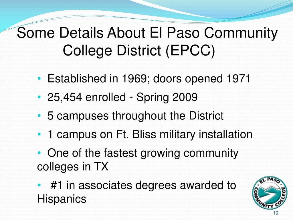 Some Details About El Paso Community