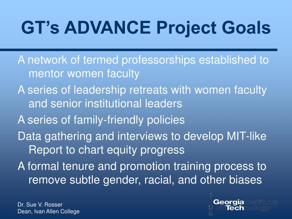 GT's ADVANCE Project Goals