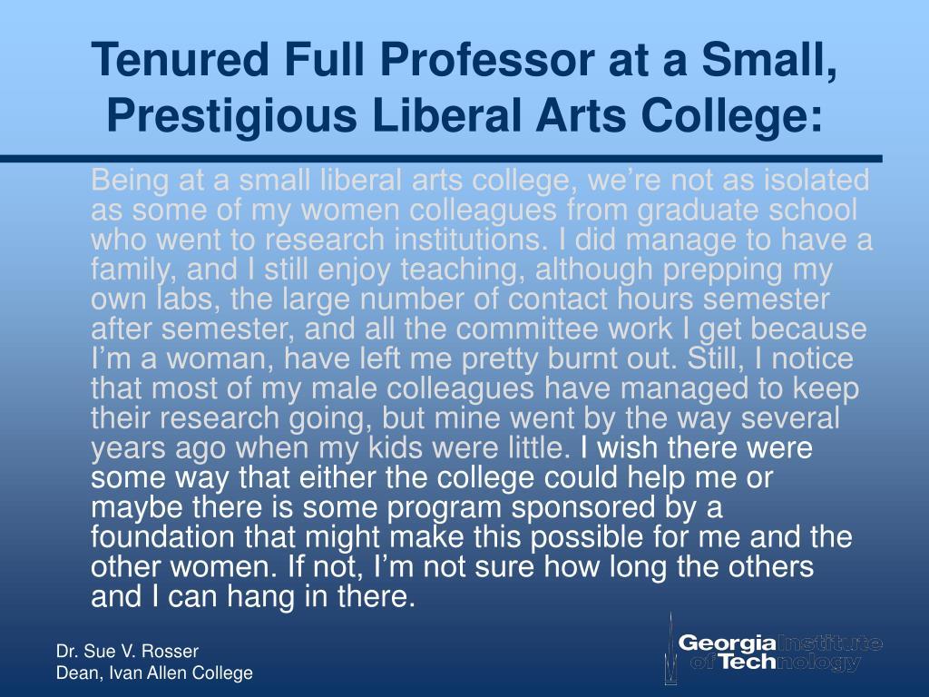 Tenured Full Professor at a Small, Prestigious Liberal Arts College: