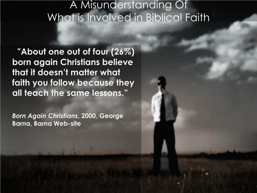 A Misunderstanding Of