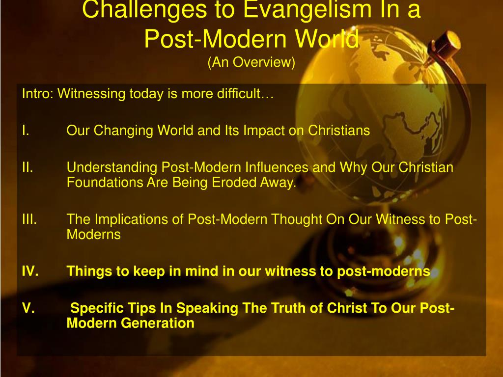 Challenges to Evangelism In a