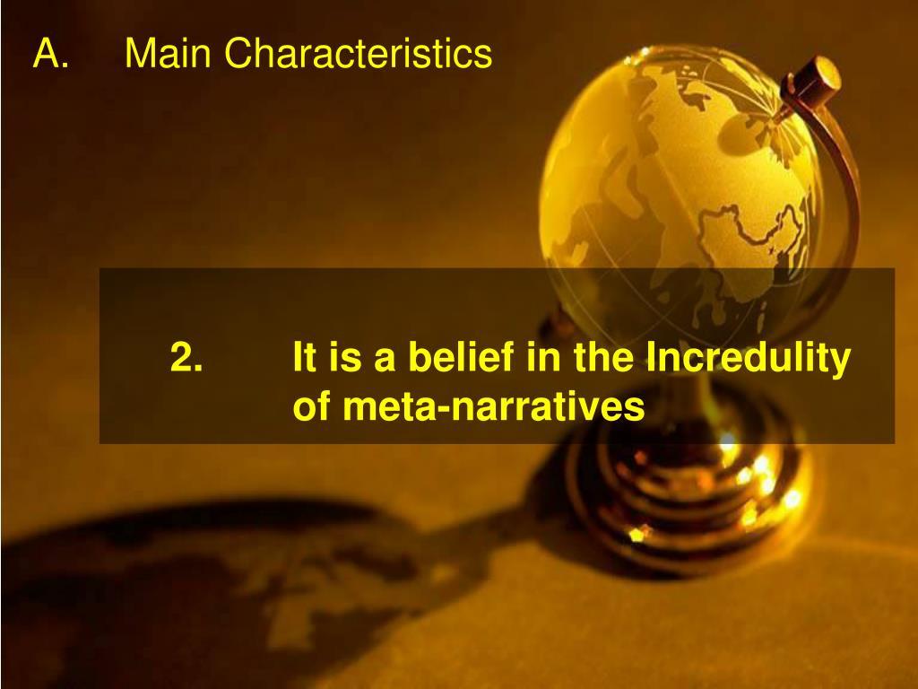 A.Main Characteristics