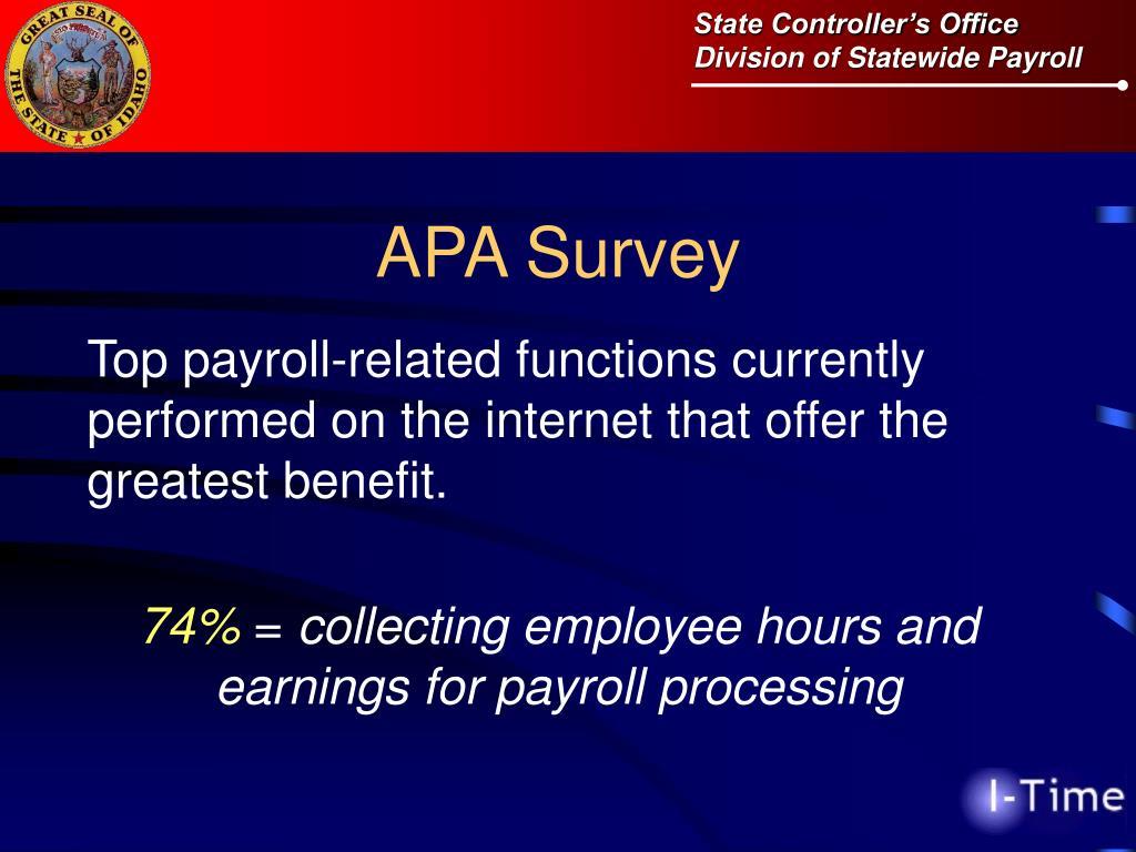 APA Survey