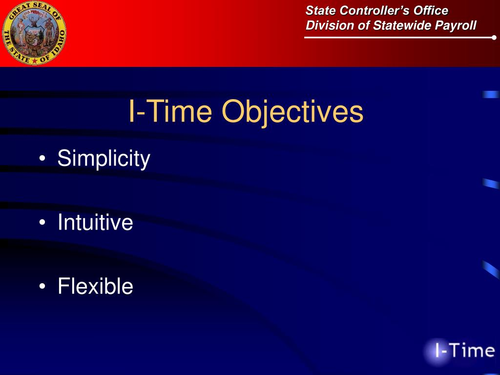 I-Time Objectives