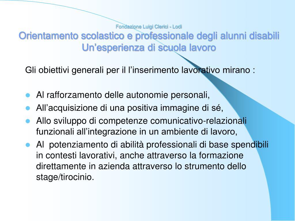 Fondazione Luigi Clerici - Lodi