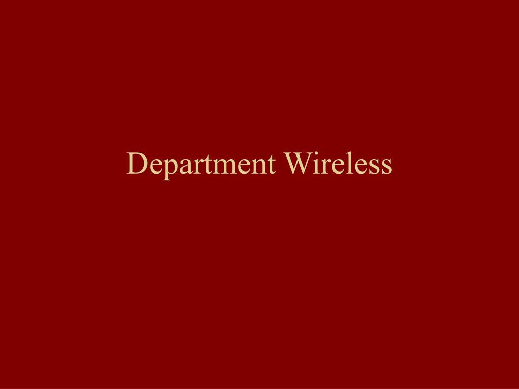 Department Wireless
