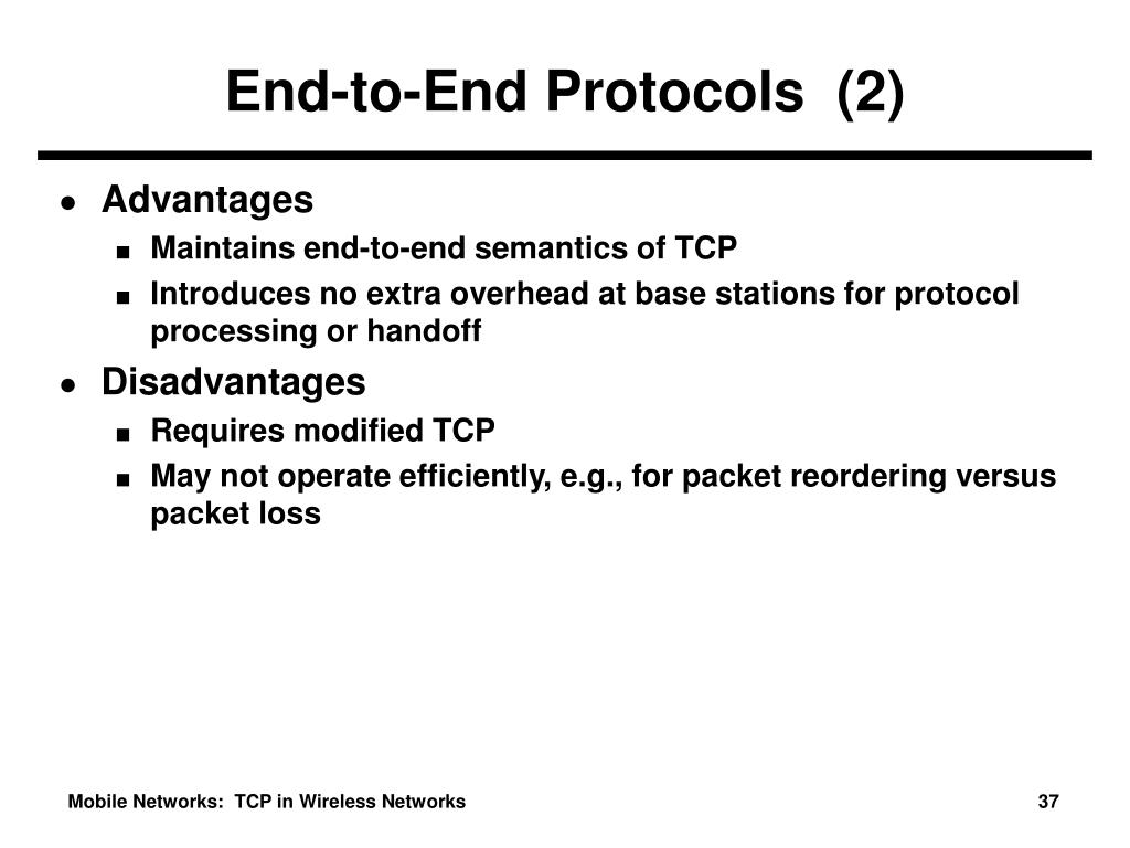 End-to-End Protocols  (2)