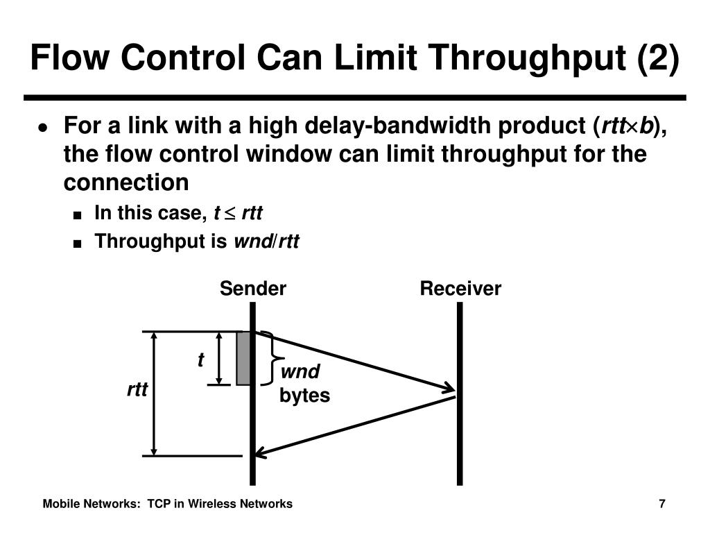 Flow Control Can Limit Throughput (2)