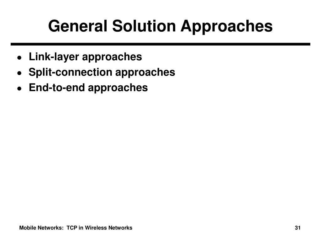 General Solution Approaches