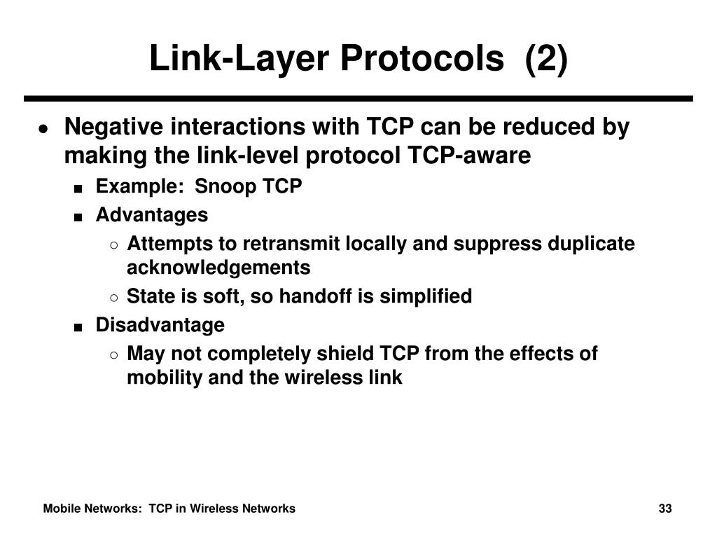 Link-Layer Protocols  (2)